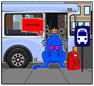 Blobfish travels by bus