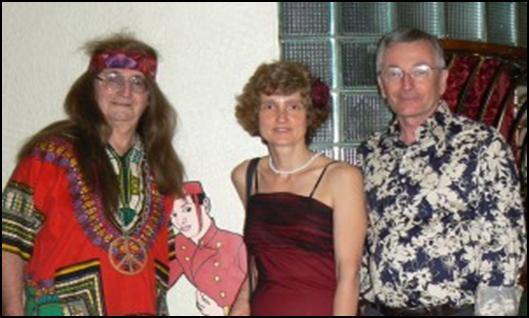 "President Tom Matthews, Treasurer Helen Wilmore and Secretary Rob Crocker at ""Skyfall"""