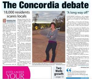 15-07-01 Story in the Bunyip - The Concordia Debate